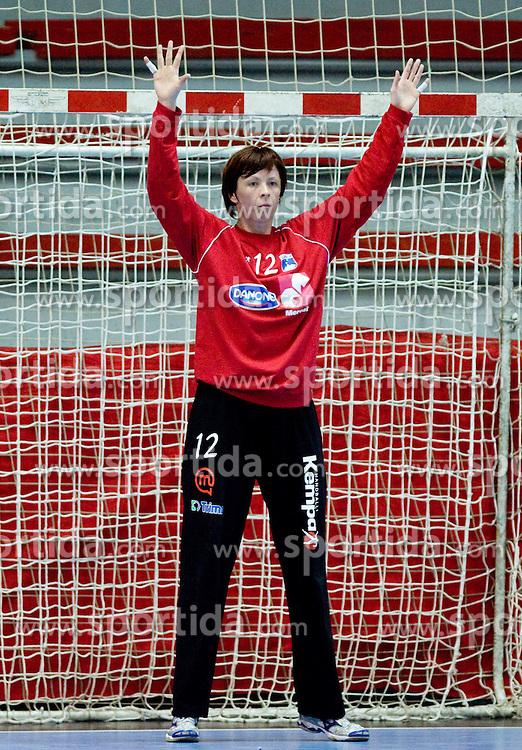 Sergeja Stefanisin  of Slovenia at Women European Championships Qualifying handball match between National Teams of Slovenia and Belarus, on October 17, 2009, in Kodeljevo, Ljubljana.  (Photo by Vid Ponikvar / Sportida)