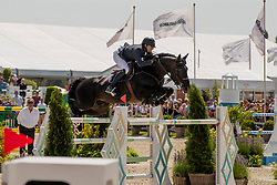 Mathy Wathelet Gregory, BEL, Iron Man vd Padenborre<br /> Grand Prix Rolex powered by Audi <br /> CSI5* Knokke 2019<br /> © Dirk Caremans<br /> Wathelet Gregory, BEL, Iron Man vd Padenborre