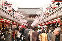 Mar 6, 2006; Tokyo, JPN; Asakusa.Souvenir shops line Nakamise-dori as you approach the Senso-ji Buddhist temple...Photo credit: Darrell Miho