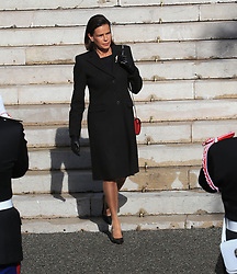 Princess Stephanie The royal family of Monaco leaving the St. Nicholas Cathedral for the beginning of the National Day festivities on November 19th 2019.