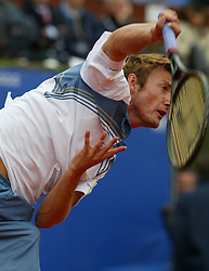 MONTE-CARLO, MONACO - Sunday, April 20, 2003: Juan Carlos Ferrero (Spain) in action during his 6-2, 6-2 victory over Guillermo Coria (Argentina) in the final of the Tennis Masters Monte-Carlo. (Pic by David Rawcliffe/Propaganda)