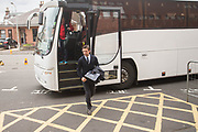 Dundee interim boss Neil McCann arrives at Fir Park for his first game in charge - Motherwell v Dundee, Fir Park, Motherwell, Photo: David Young<br /> <br />  - © David Young - www.davidyoungphoto.co.uk - email: davidyoungphoto@gmail.com