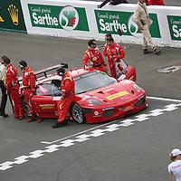 #82 Ferrari F430 GTC - Risi Competizione, Starting Grid, LMGT2 Le Mans 24H 2010