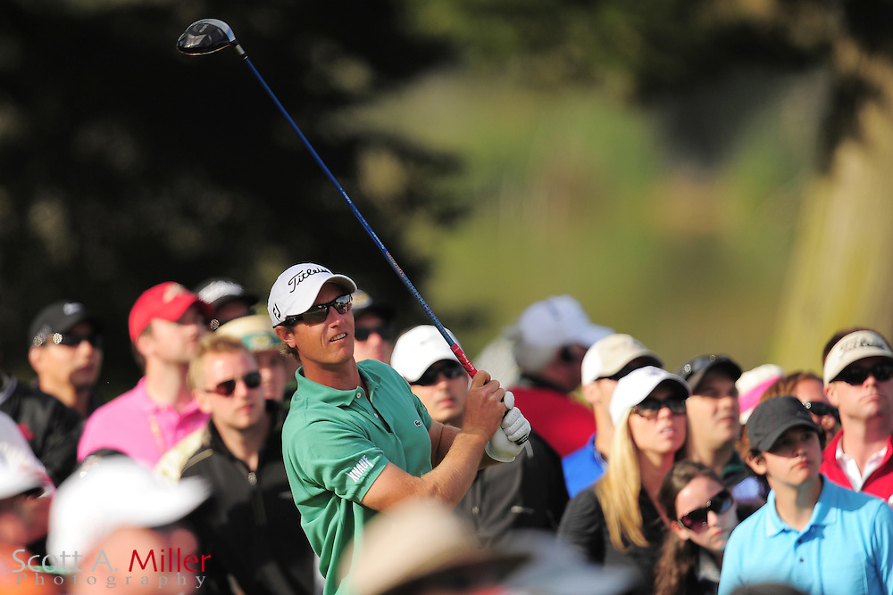 Nicolas Colsaerts during the third round of the 112th U.S. Open at The Olympic Club on June 16, 2012 in San Fransisco. ..©2012 Scott A. Miller