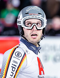 """29.01.2019, Planai, Schladming, AUT, FIS Weltcup Ski Alpin, Slalom, Herren, 2. Lauf, im Bild Dominik Stehle (GER) // Dominik Stehle of Germany reacts after his 2nd run of men's Slalom """"the Nightrace"""" of FIS ski alpine world cup at the Planai in Schladming, Austria on 2019/01/29. EXPA Pictures © 2019, PhotoCredit: EXPA/ JFK"""