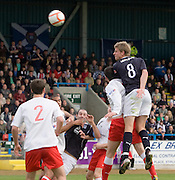 Jamie Adams comes close with a header - Stirling Albion v Dundee, IRN BRU Scottish League 1st Division, Forthbank Stadium, Stirling<br /> <br />  - © David Young<br /> ---<br /> email: david@davidyoungphoto.co.uk<br /> http://www.davidyoungphoto.co.uk