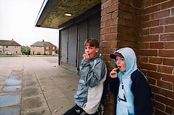 Kids hanging around closed shops; Bradford council estate