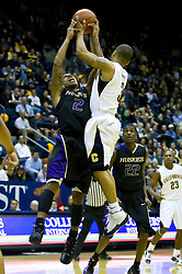 February 11, 2010; Berkeley, CA, USA;  Washington Huskies guard Isaiah Thomas (2) battles with California Golden Bears guard Jerome Randle (3) for a rebound during the first half at the Haas Pavilion.  California defeated Washington 93-81.
