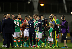 Robbie Keane receives a guard of honour from his team mates at the end of the game - Mandatory by-line: Ken Sutton/JMP - 31/08/2016 - FOOTBALL - Aviva Stadium - Dublin,  - Republic of Ireland v Oman -