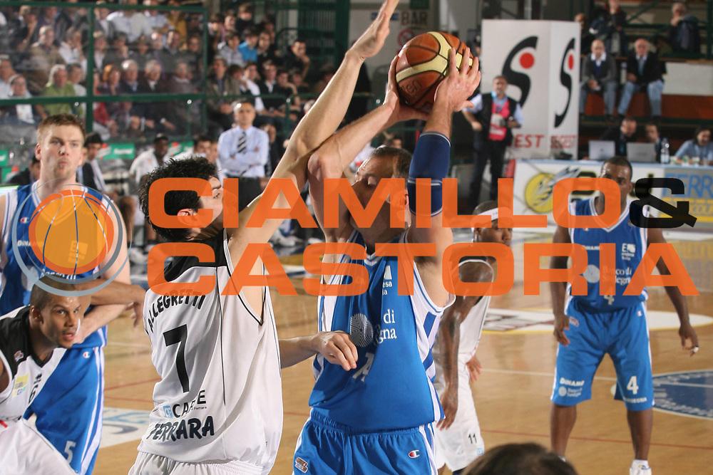 DESCRIZIONE : Ferrara Lega A2 2007-08 Final Four Coppa Italia Carife Ferrara Banco di Sardegna Sassari<br /> GIOCATORE : Marko Verginella<br /> SQUADRA : Banco di Sardegna Sassari<br /> EVENTO : Campionato Lega A2 2007-2008 <br /> GARA : Carife Ferrara Banco di Sardegna Sassari<br /> DATA : 01/03/2008 <br /> CATEGORIA : Tiro<br /> SPORT : Pallacanestro <br /> AUTORE : Agenzia Ciamillo-Castoria/M.Marchi