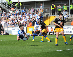 Bristol Rovers' Ollie Clarke goes close - Photo mandatory by-line: Joe Meredith/JMP - Mobile: 07966 386802 03/05/2014 - SPORT - FOOTBALL - Bristol - Memorial Stadium - Bristol Rovers v Mansfield - Sky Bet League Two
