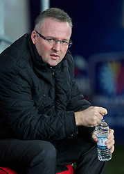 CARDIFF, WALES - Tuesday, February 11, 2014: Aston Villa's manager Paul Lambert before the Premiership match against Cardiff City at the Cardiff City Stadium. (Pic by David Rawcliffe/Propaganda)