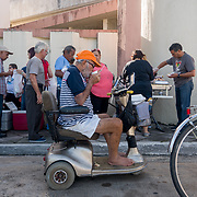 NOVEMBER 23 - Cata&ntilde;o, PUERTO RICO - <br /> Thanksgiving breakfast and early lunch outside the Nuestra Se&ntilde;ora del Carmen Catholic Church in Cata&ntilde;o. Church members and residents of Cata&ntilde;o enjoyed an early morning meal outside the Hurricane Maria damaged church.<br /> (Photo by Angel Valentin/FREELANCE)
