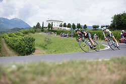 Krista Doebel-Hickok (USA) of Cylance Pro Cycling leans into a corner on the descent from Ca' dell Poggio during Stage 3 of the Giro Rosa - a 100 km road race, between San Fior and San Vendemiano on July 2, 2017, in Treviso, Italy. (Photo by Balint Hamvas/Velofocus.com)