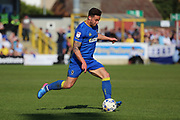 AFC Wimbledon midfielder David Fitzpatrick (19) starting an attack during the EFL Sky Bet League 1 match between AFC Wimbledon and Bristol Rovers at the Cherry Red Records Stadium, Kingston, England on 8 April 2017. Photo by Matthew Redman.