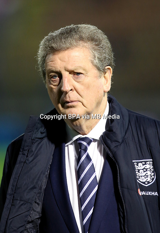 Football Fifa Brazil 2014 World Cup Matchs-Qualifier / Group H /<br /> San Marino vs England  0-8  ( Olympic Stadium - Serravalle , Republic of San Marino )<br /> Roy HODGSON - Coach of England , during the match between San Marino and England