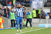 Brighton & Hove Albion full back Bruno Saltor (Captain) (2) during the EFL Sky Bet Championship match between Brighton and Hove Albion and Preston North End at the American Express Community Stadium, Brighton and Hove, England on 15 October 2016.