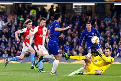Pedro of Chelsea scores a goal to make it 1-0 - Mandatory by-line: Robbie Stephenson/JMP - 18/04/2019 - FOOTBALL - Stamford Bridge - London, England - Chelsea v Slavia Prague - UEFA Europa League Quarter Final 2nd Leg