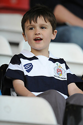 Bristol Rugby fan - Photo mandatory by-line: Dougie Allward/JMP - Mobile: 07966 386802 - 17/04/2015 - SPORT - Rugby - Bristol - Ashton Gate - Bristol Rugby v Jersey - Greene King IPA Championship