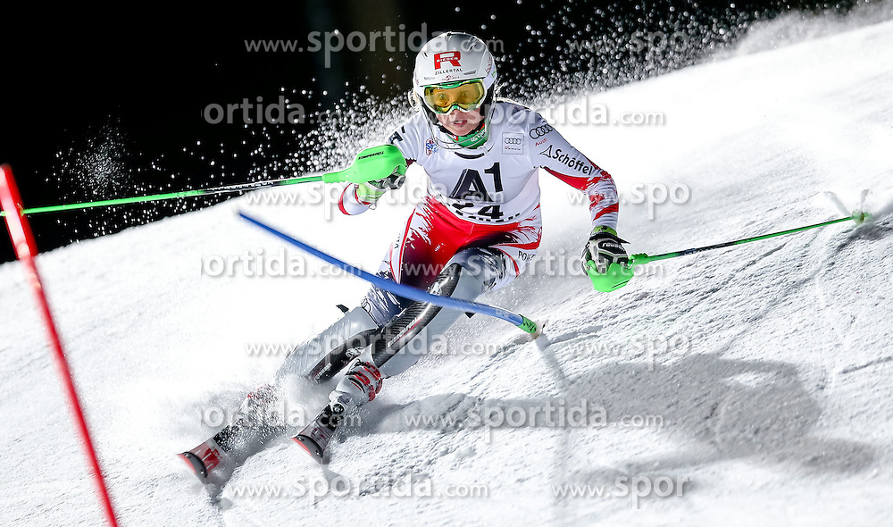 13.01.2015, Hermann Maier Weltcupstrecke, Flachau, AUT, FIS Weltcup Ski Alpin, Flachau, Slalom, Damen, 1. Lauf, im Bild Alexandra Daum (AUT) // Alexandra Daum of Austria in action during 1st run of the ladie's Slalom of the FIS Ski Alpine World Cup at the Hermann Maier Weltcupstrecke in Flachau, Austria on 2015/01/13. EXPA Pictures © 2015, PhotoCredit: EXPA/ Johann Groder