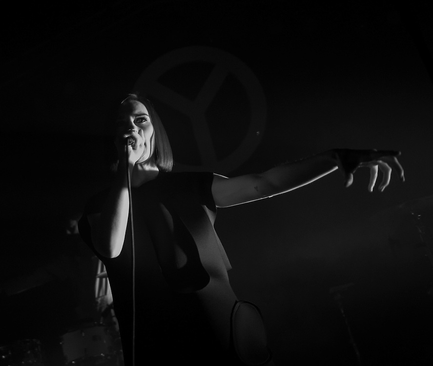 Julie Budet of French dance-pop group Yelle performing at Observatory Orange County in between Coachella performances with Seattle-based Hibou opening.