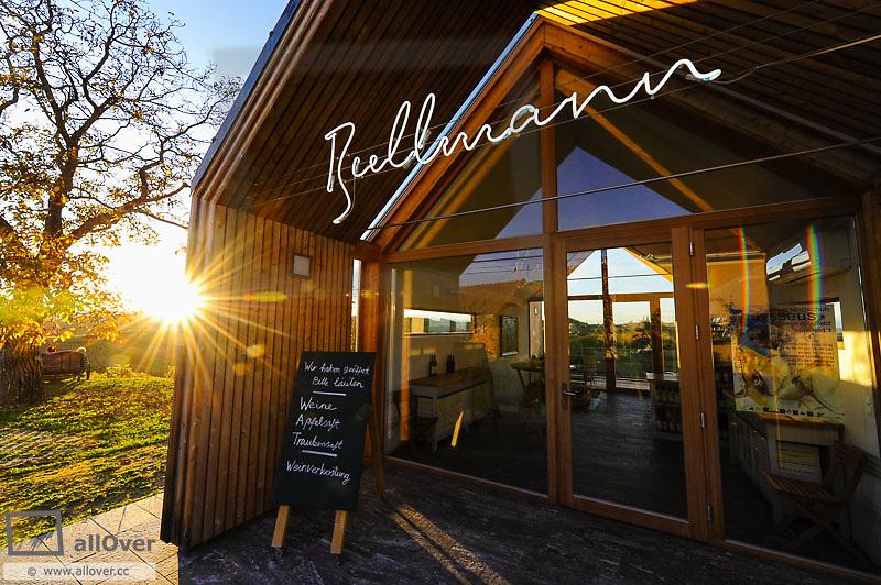 Suedsteirische Weinstrasse, Southern Styria wine route in autumn, vinery Bullmann, Austria, Styria, Southern Styria, Ratsch