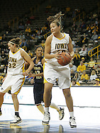 28 NOVEMBER 2007: Iowa center Stacy Schlapkohl (40) grabs a rebound in the second half of Georgia Tech's 76-57 win over Iowa in the Big Ten/ACC Challenge at Carver-Hawkeye Arena in Iowa City, Iowa on November 28, 2007.