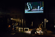 """Brooklyn, NY - December 6, 2017. Dress rehearsal of the New York premiere of """"Suddenly"""", based on stories by Etgar Keret, directed by Zvi Sahar, produced by the Cameri Theatre of Tel Aviv."""