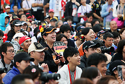 A Nico Hulkenberg (GER) Sahara Force India F1 fan at the fans' stage.<br /> 08.10.2016. Formula 1 World Championship, Rd 17, Japanese Grand Prix, Suzuka, Japan, Qualifying Day.<br /> Copyright: Moy / XPB Images / action press