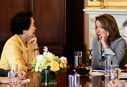 March 27, 2019 - Speaker of the US House of Representatives Nancy Pelosi met former HK No.2 deputy, retired Chief Secretary of HKSAR, Anson Chan ( L ) in Washington. ( Credit as : Handout by Civic Party HK via ZUMA) Mar-28,2019 Hong Kong.ZUMALiau Chung-ren (Credit Image: © Liau Chung-renZUMA Wire)