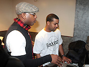 """l to r: Talib Kweli and DJ Chaps at BlackSmith Presents """" The Night before the Night before Christmas Produced by Jill Newman Productions held at Highline Ballroom on December 23, 2009 in New York City."""