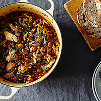 Chicken Chard and Cranberry Bean Stew