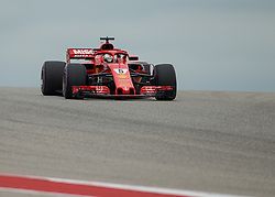 October 20, 2018 - Austin, USA - Scuderia Ferrari driver Sebastian Vettel (5) of Germany  comes around Turn 10 during qualifying at the Formula 1 U.S. Grand Prix at the Circuit of the Americas in Austin, Texas on Saturday, Oct. 20, 2018. (Credit Image: © Scott Coleman/ZUMA Wire)