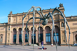 Spider sculpture by Louise Bourgeois outside Kunsthalle in Hamburg Germany