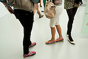 Design Your Own Timberland breakfast and Autumn/ Winter 2011 preview. Timberland. 1 Fournier St. London. Followed by an art tour by Julia Royce. 8 June 2011. <br /> <br />  , -DO NOT ARCHIVE-© Copyright Photograph by Dafydd Jones. 248 Clapham Rd. London SW9 0PZ. Tel 0207 820 0771. www.dafjones.com.