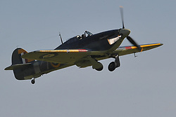 HAWKER HURRICANE FIGHTER, Battle of Britain Air Show, Duxford 24th September 2017