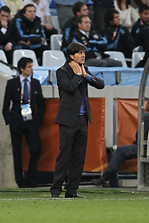 03.07.2010, CAPE TOWN, SOUTH AFRICA, im Bild .German Coach Joachim Loew during the Quarter Final, Match 59 of the 2010 FIFA World Cup, Argentina vs Germany held at the Cape Town Stadium..Foto ©  nph /  Kokenge