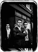 The Smiths on their last session, Oldham Road, Manchester, UK,1980s.