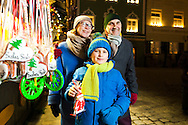 Grandparents, Grandson,  Enjoyment, Sweets, Christmas Market,
