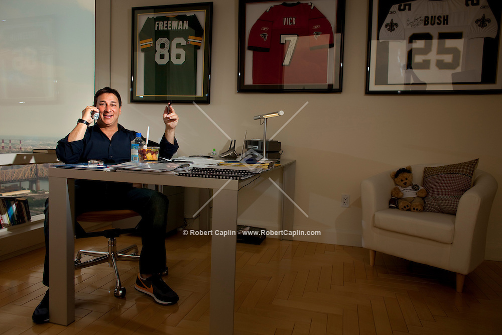 Sports agent Joel Segal in his New York City home-office in New York, NY on Wednesday, July 1, 2009.