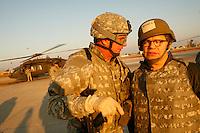 al franken on Tadji Base, Iraq<br />during USO tour<br /><br />photo by Owen Franken<br /><br />Dec , 2006 Al Franken, USO tour