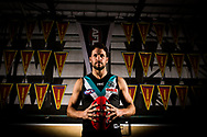 Porter Power player Travis Boak poses for a portrait ahead of his 250th AFL game at the Port Power training facility in Port Adelaide, Adelaide, Wednesday, May 1, 2019.  (AAP Image/Kelly Barnes) NO ARCHIVING