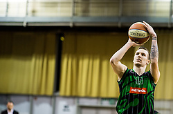 Gregor Hrovat of Petrol Olimpija during basketballl match between KK Petrol Olimpija Ljubljana and KK Partizan NIS mts in Round #20 of ABA League 2017/18, on February 10, 2018 in Tivoli sports hall, Ljubljana, Slovenia. Photo by Vid Ponikvar / Sportida