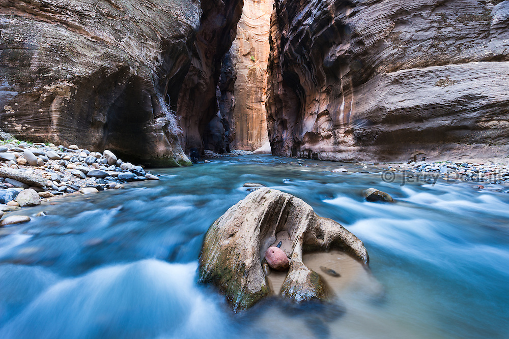 Virgin River at The Narrows, in Zion National Park, Utah