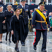 LUX/Luxemburg/20190 504 -  Funeral<br /> of HRH Grand Duke Jean, Uitvaart Groothertog Jean, koning Harald en partner koningin Sonja van Noorwegen