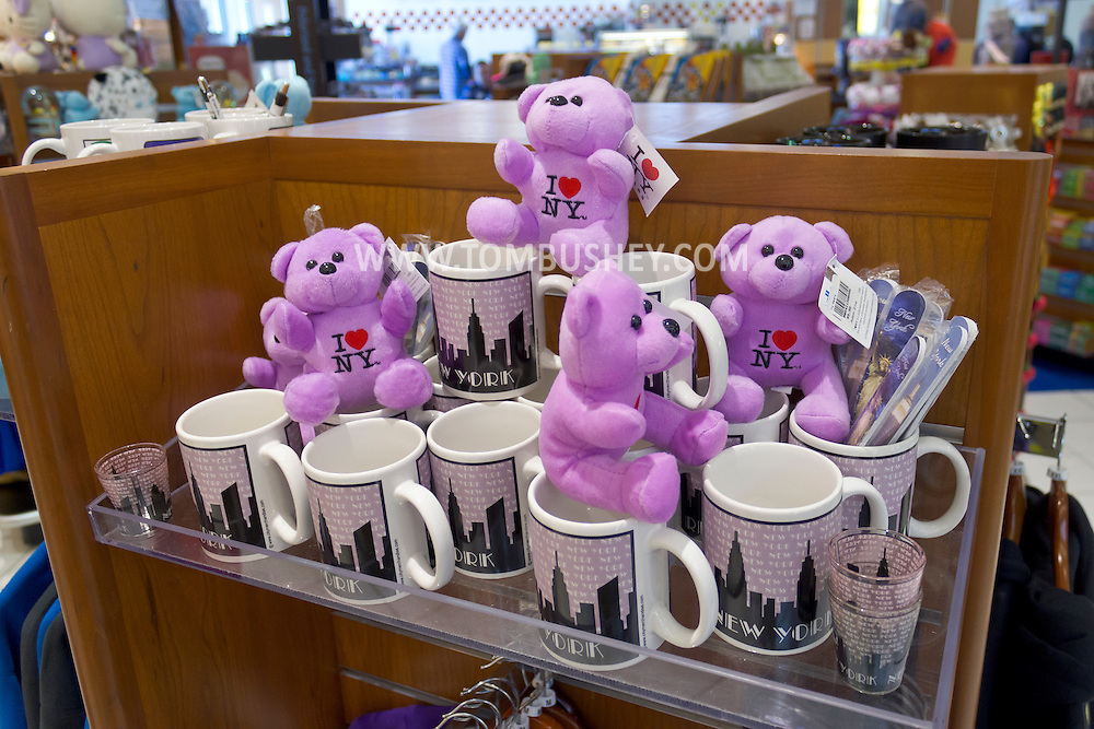 New Windsor, New York - Souvenirs from New York on display in a shop at Stewart International Airport on Jan. 26, 2013.