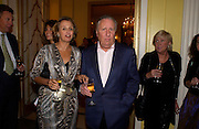 Sir Frederick and Lady Forsyth, Bruce Oldfield celebrates the publication of 'Rootless' party in aid of Crimestoppers. Claridges. 22 September 2004. SUPPLIED FOR ONE-TIME USE ONLY-DO NOT ARCHIVE. © Copyright Photograph by Dafydd Jones 66 Stockwell Park Rd. London SW9 0DA Tel 020 7733 0108 www.dafjones.com