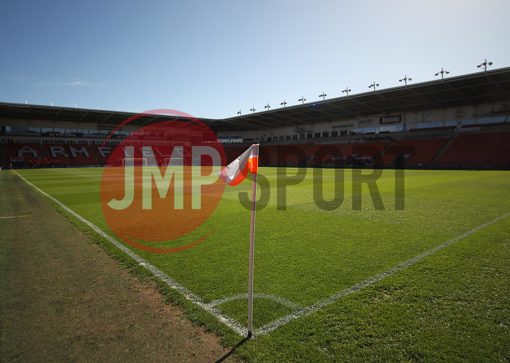 General view of Bloomfield Road, home of Blackpool ahead of their play-off semi final first leg against Luton Town - Mandatory by-line: Jack Phillips/JMP - 14/05/2017 - FOOTBALL - Bloomfield Road - Blackpool, England - Blackpool v Luton Town - Football League 2 Play-off Semi Final Leg 1