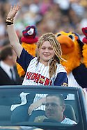 MAY 14, 2010: American Idol Crystal Bowersox rides into Fifth Third Field before the Mudhens game during her hometown celebration in Toledo, Ohio.