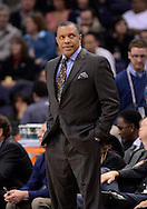 Jan. 14, 2013; Phoenix, AZ, USA; Phoenix Suns head coach Alvin Gentry stands on the sidelines in the game against the Oklahoma City Thunder at the US Airways Center. The Thunder defeated the Suns 102-90. Mandatory Credit: Jennifer Stewart-USA TODAY Sports